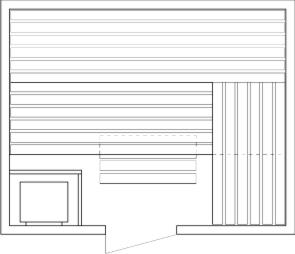 Tlocrti saune 200x250