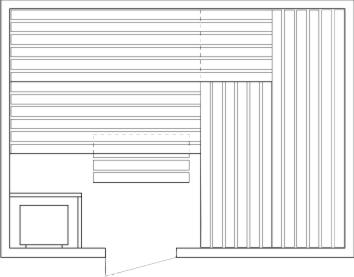 Tlocrti saune 200x300