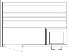 Tlocrti saune 140x200