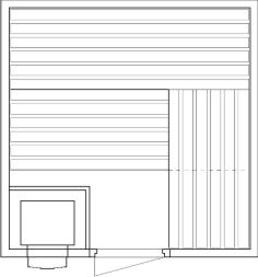 Tlocrti saune 200x200