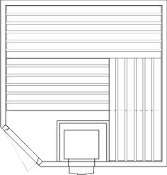Tlocrti kutne saune 200x200