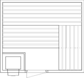 Tlocrti saune 200x230