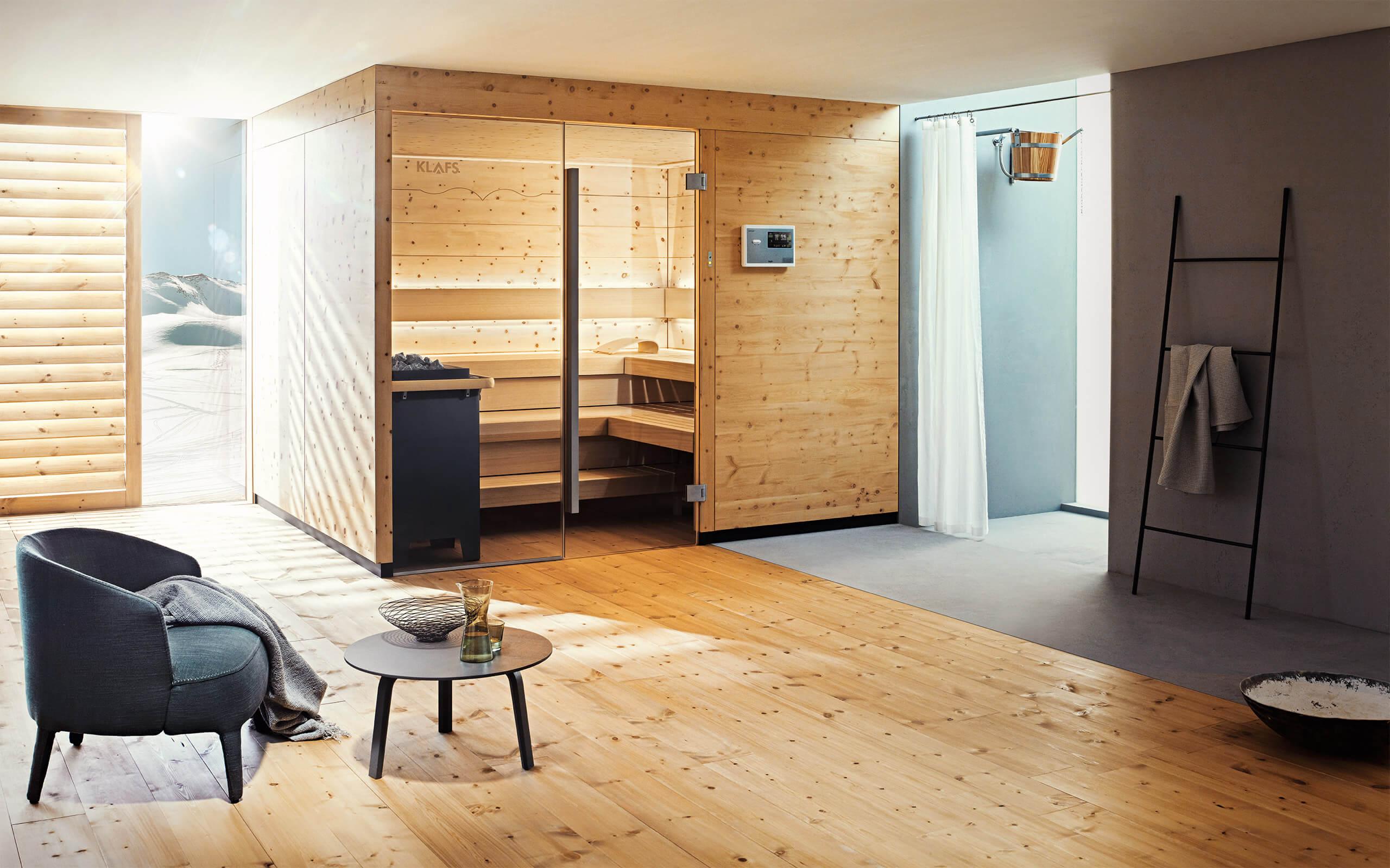 1. Sauna kontrollieren und an Ihrer Steuerung 18033 mit WLAN-Modul die Ferneinschaltung aktivieren.