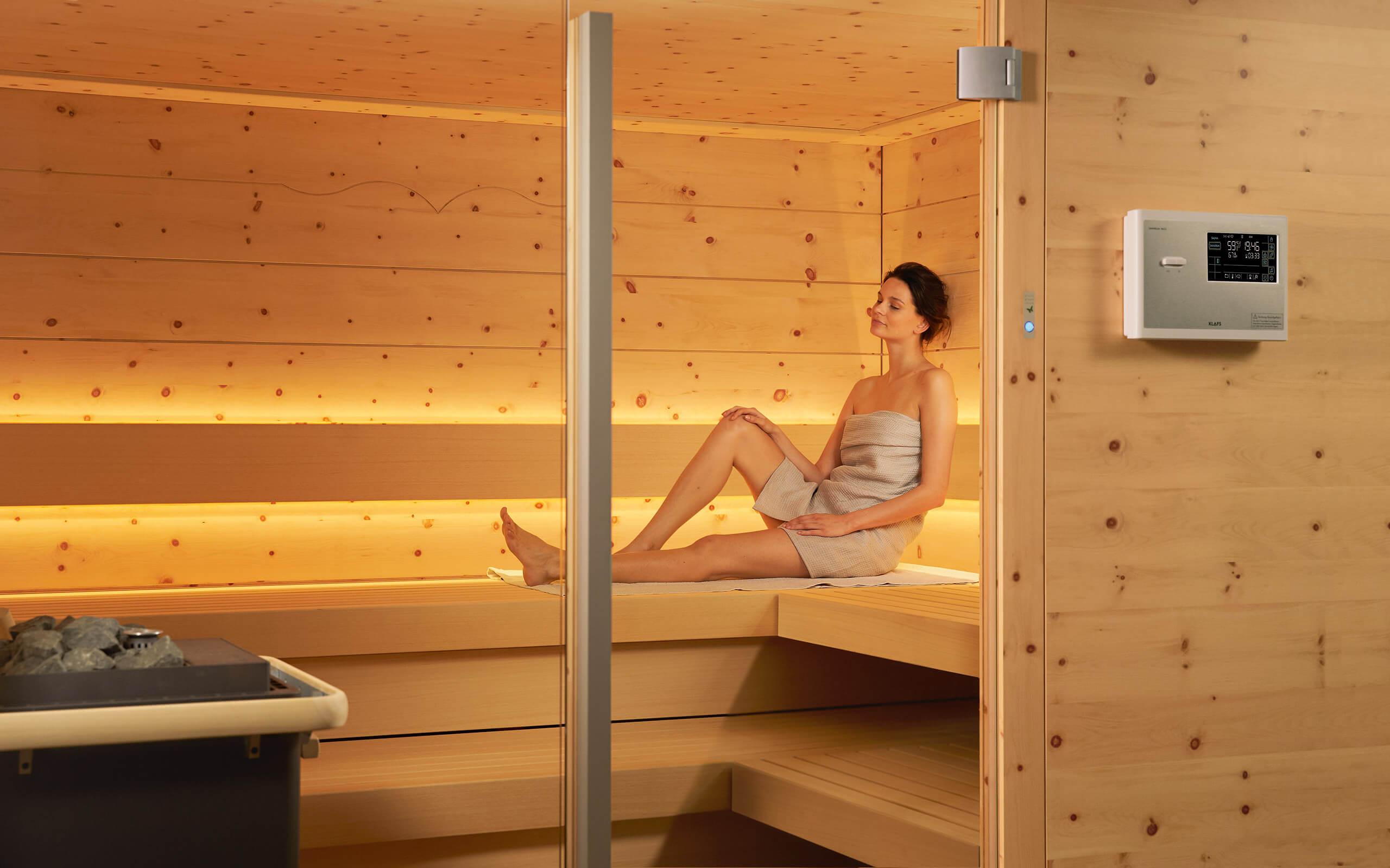 2. Die Sauna ist betriebsbereit und wartet auf Ihren Einsatz.